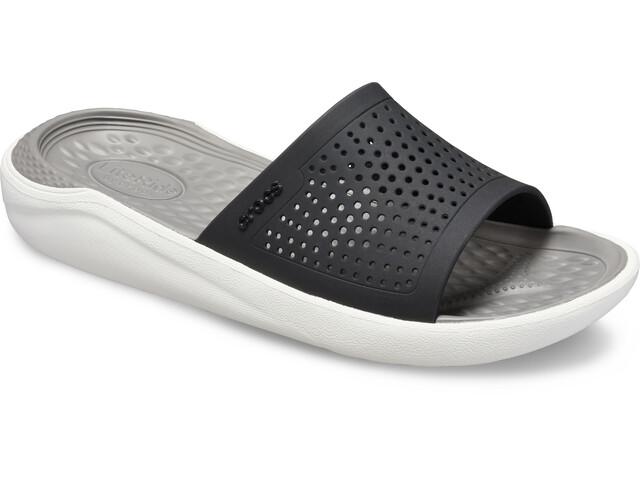 Crocs LiteRide Slides-sandaali, black/smoke